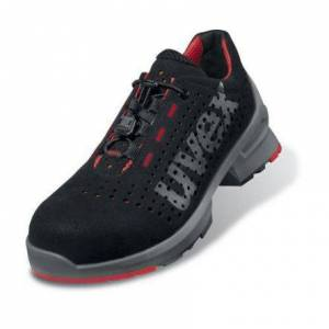 Uvex 1 Man, Women Black/Red Toe Capped Safety Trainers, EU 47, 8546847
