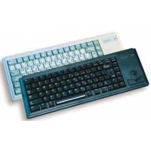 Cherry Trackball Keyboard Wired PS/2 Compact, QWERTZ Black, G84-4400LPBDE-2