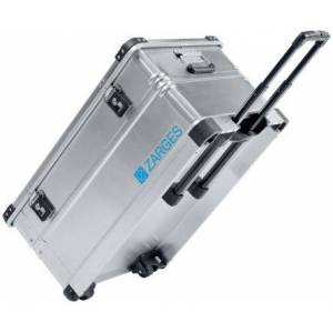 Zarges K 424 XC Waterproof Metal Equipment case With Wheels, 800 x 500 x 385mm, Silver, 41813