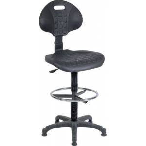 RS PRO Plastic Drafting Chair Black