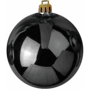 EUROPALMS Deco Ball 20cm, black - Christmas tree balls