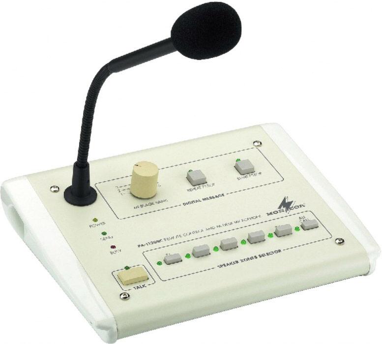 MONACOR PA-1120RC PA zone paging desktop microphone, - Installation microphones