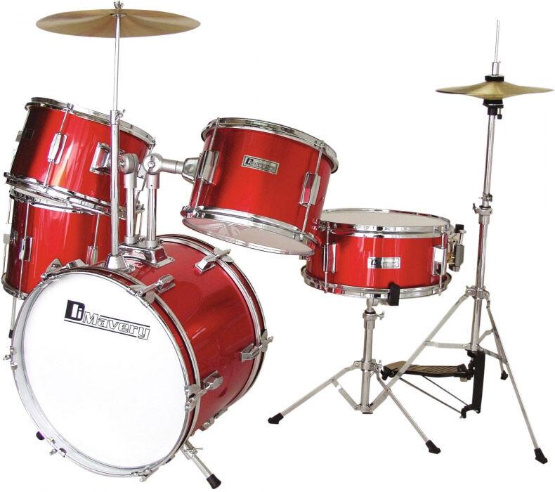 DIMAVERY JDS-305 Kids Drum Set, red - Drums