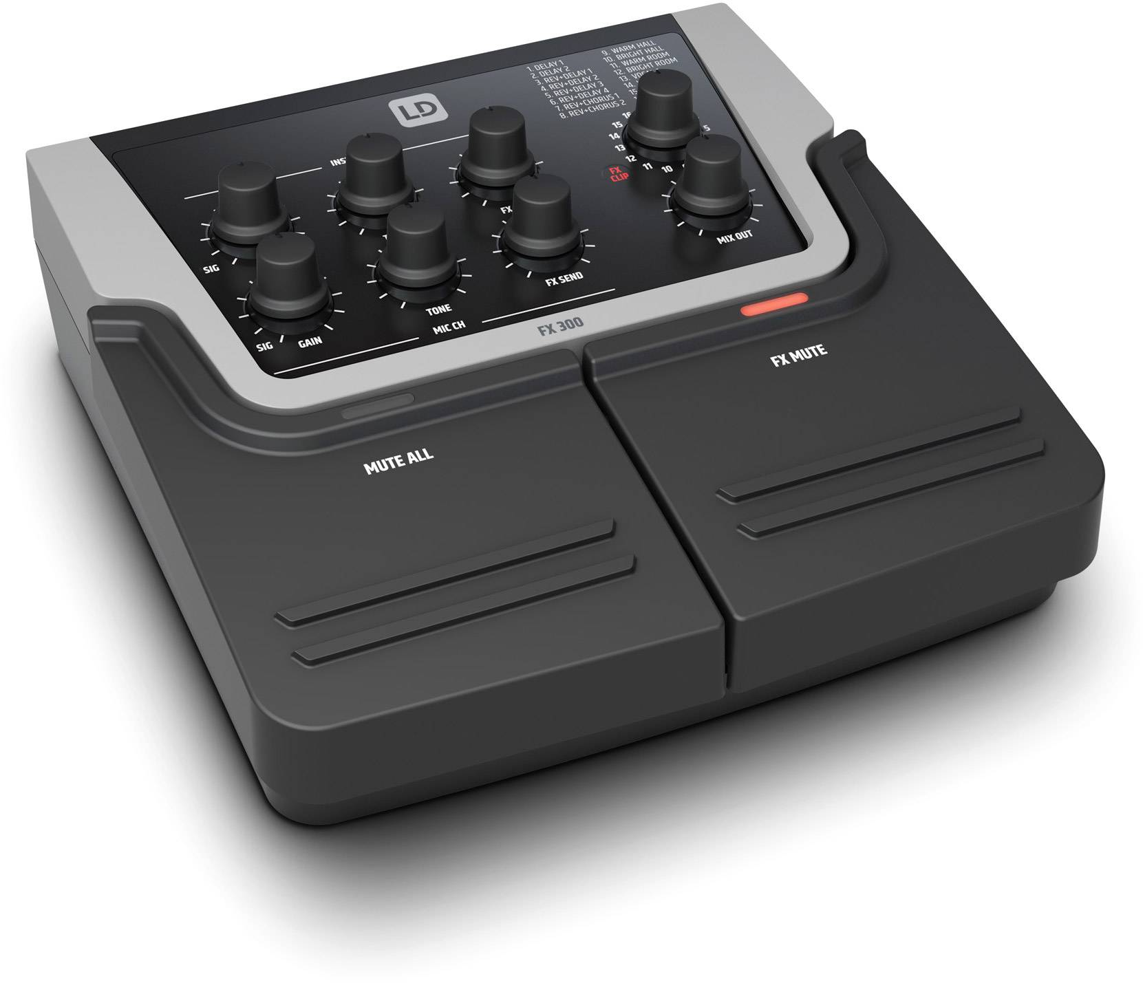 LD Systems FX 300 2-Channel Pedal with 16 Digital Effects - Miscellaneous accessories