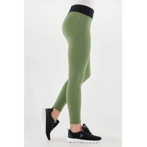Freddy Army green ankle-length bioactive WR.UP® Sport leggings  - Woman - Four Leaf Clover-Black - Size: Large