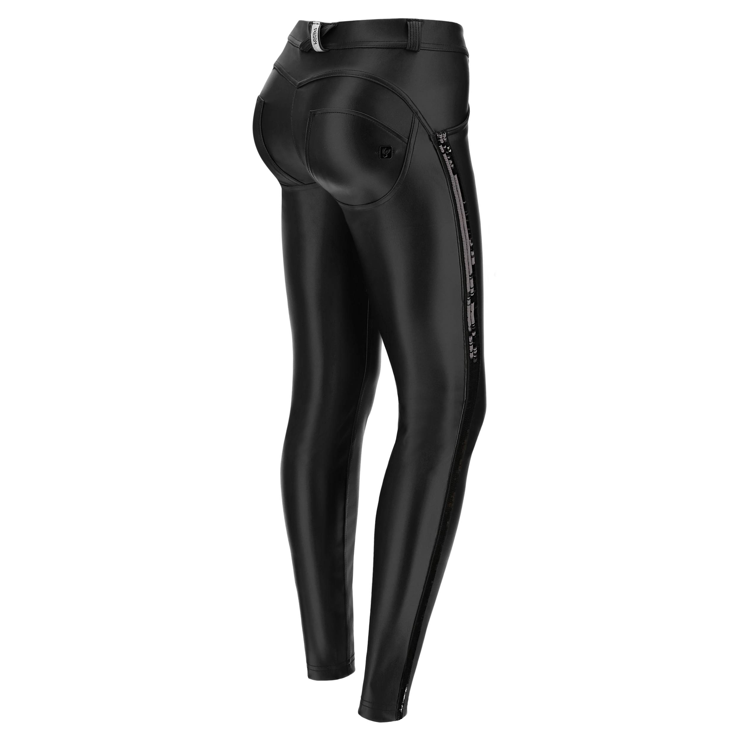 Freddy Women's faux leather WR.UP® skinny trousers with sequins  - Woman - Black - Size: Large