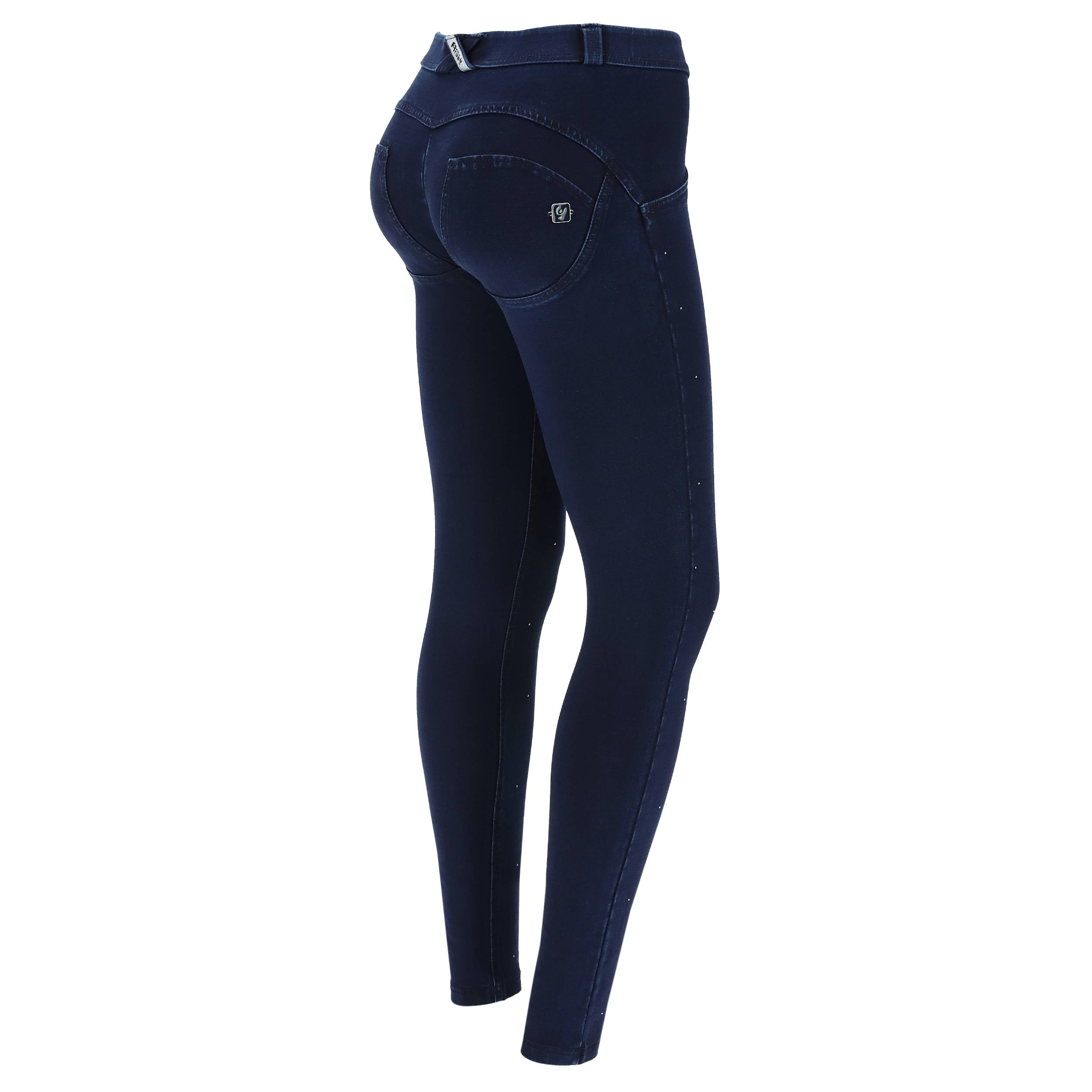 Freddy Sculpting WR.UP® skinny jeggings with micro studs  - Woman - Dark Jeans-Blue Seam - Size: Medium
