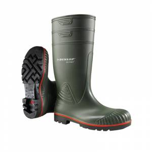 Dunlop A442631 Acifort Heavy Duty Full Safety Wellington Green