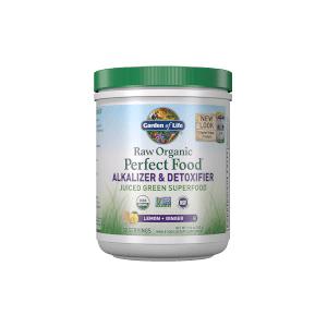 Garden of Life Raw Organic Perfect Food Alkalizer and Detoxifier - Lemon-Ginger - 282g