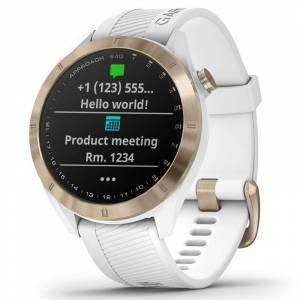 Garmin Mens White Stylish Approach S40 Premium Golf GPS Watch, Size: One Size