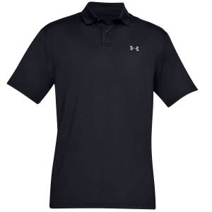 Under Armour Mens Black Performance 2.0 Golf Polo Shirt, Size: Small American Golf American Golf