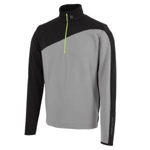 GalvinGreen Galvin Green Mens Black and Grey Dylan Insula Golf Midlayer, Size: S