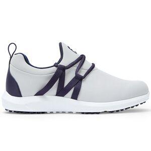Footjoy Leisure Slip-On Ladies Golf Shoes, Female, Light Grey/Navy, 8, Wide