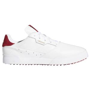 adidas Golf Adicross Retro Golf Shoes, Mens, White/red, 7, Wide American Golf