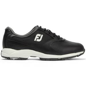 FootJoy Athletics Golf Shoes, Male, Black, 7.5, Regular