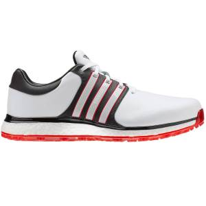 adidasGolf adidas Golf Mens White, Core Black and Scarlet Red Tour 360 XT-SL Golf Shoes, Size: 7
