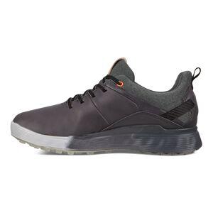 ECCO Golf S-Three Golf Shoes, Male, Black/Charcoal, 9, Regular