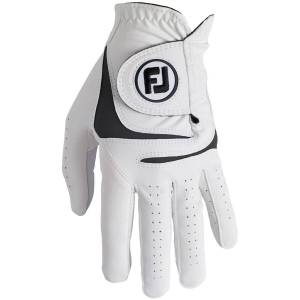 FootJoy WeatherSof Golf Glove, Male, Right Hand, Large, White