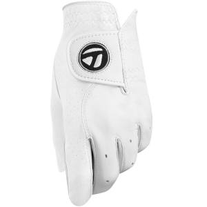 Taylormade Mens White Tour Left Hand Preferred Golf Glove, Size: Large