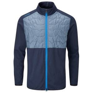 PING Norse S2 Zoned Golf Jacket, Male, Oxford Blue/Greystone, XXL