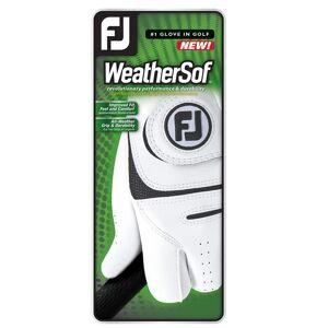FootJoy WeatherSof Golf Glove, Male, Right Hand, Medium, White