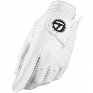 Taylormade Tour Preferred Golf Glove, Male, Left Hand, Medium/Large, White