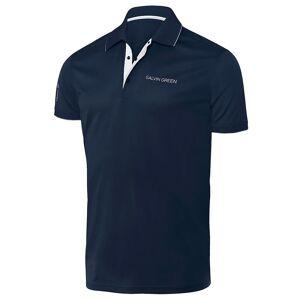GalvinGreen Galvin Green Marty Golf Polo Shirt, Male, Navy/White, Medium