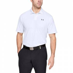 Under Armour Mens White Performance 2.0 Golf Polo Shirt American Golf, XXL American Golf