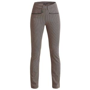 Röhnisch Smooth Ladies Golf Trousers, Female, Beige/Black, 14