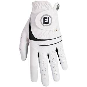 Footjoy WeatherSof Ladies Golf Glove, Female, Left Hand, Large, White