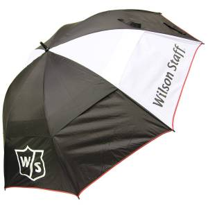 WilsonStaff Wilson Staff Mens Black and White Umbrella