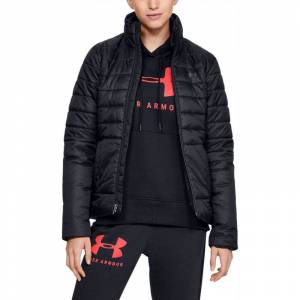 UnderArmour Under Armour Insulated Ladies Golf Jacket, Female, Black/Black, Medium