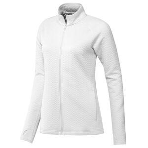 adidas Golf Ladies White Long Lasting Textured Full-Zip Midlayer, Size: XL