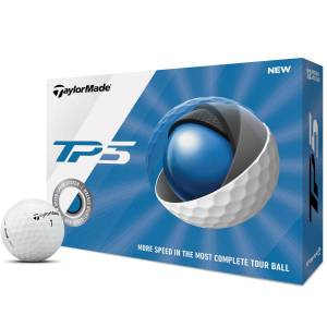 Taylormade Mens White TP5 12 Ball Pack 2019, One Size American Golf