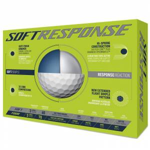 Taylormade Soft Response 12 Ball Pack, Male, White