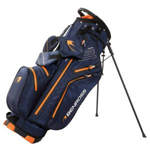 Benross PROTEC Waterproof Golf Stand Bag, Navy/Orange