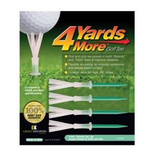 4YardsMore 4 Yards More Green Pack of 4 Extreme Golf Tees, Size: 4""