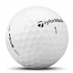 Taylormade White TP5x 2019 Pack of 12 Golf Balls, Size: One Size    American Golf    American Golf