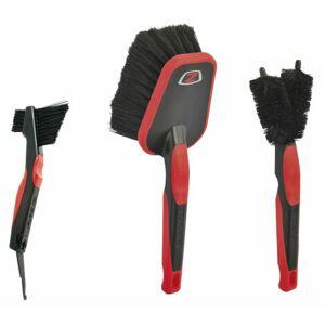 Zefal Bike Care ZB 3-Brush Set - Black / Red