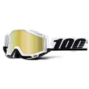 100% Racecraft Goggles - Mirror Lens - Stuu / Mirror Gold Lens