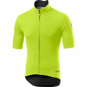 Castelli Perfetto RoS Light Short Sleeve Cycling Jersey - AW20 - Yellow Fluo / Small