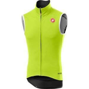 Castelli Perfetto RoS Cycling Vest - AW20 - Yellow Fluo / Small