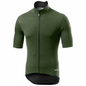 Castelli Perfetto ROS Light Short Sleeve Cycling Jersey - AW20 - Military Green / Small