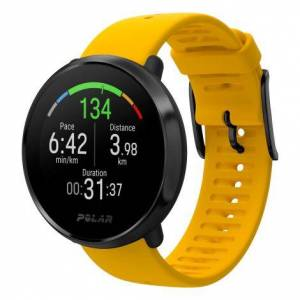 Polar Ignite GPS Sports Watch - Yellow / GPS / M/L
