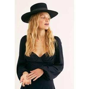 Lack of Colour Sierra Boater Hat by Lack of Colour at Free People, Black / Black, M  - Black / Black