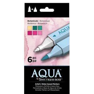 Crafter's Companion Aqua by Spectrum Noir 6 Pen Set - Botanicals