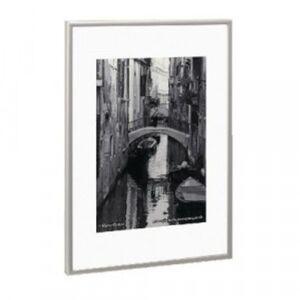 Photo Album Company A3 Poster Display/Cert Frame Satin Silver Aluminium