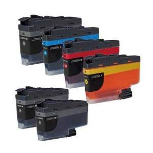 Printerinks Compatible Multipack Brother LC3235XL 1 Full Set + 2 EXTRA Black Ink Cartridges (6 Pack)