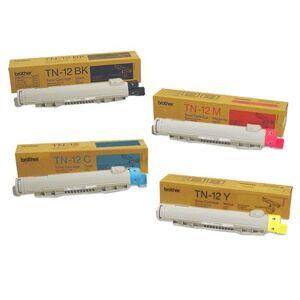 Brother Original Multipack Brother HL-4200CN Printer Toner Cartridges (4 Pack) -TN12BK