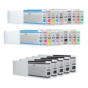 Printerinks Compatible Multipack Epson T6361/6B 2 Full Sets + 3 EXTRA Black Ink Cartridges (25 Pack)